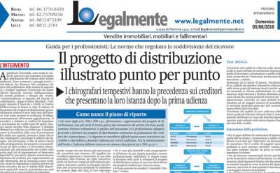 """Il Messaggero: """"Il progetto di distribuzione illustrato punto per punto"""""""