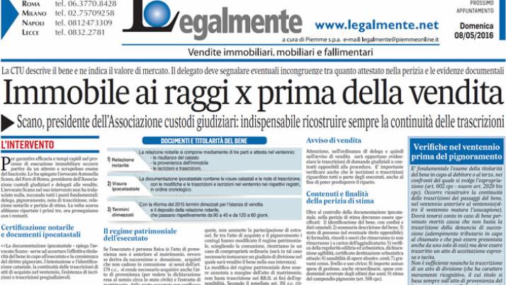"""Il Messaggero: """"Immobile ai raggi x prima della vendita"""""""