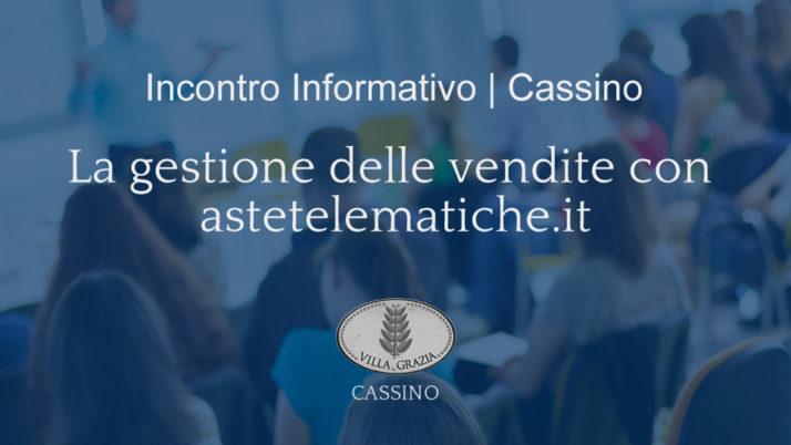 Cassino | Evento formativo per professionisti delegati e curatori fallimentari