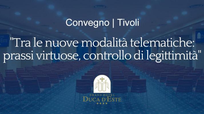 Tivoli | Importante convegno con ACGDV