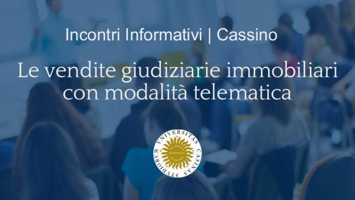 Cassino | Eventi formativi il 18 e 25 giugno