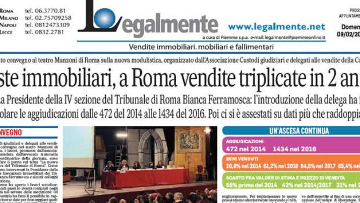 """Il Messaggero: """"Affollato convegno al Teatro Manzoni di Roma sulla nuova modulistica"""""""